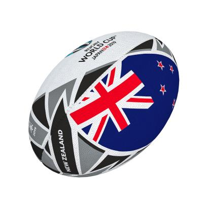 Gilbert Rugby World Cup 2019 New Zealand Flag Mini Rugby Ball - Front