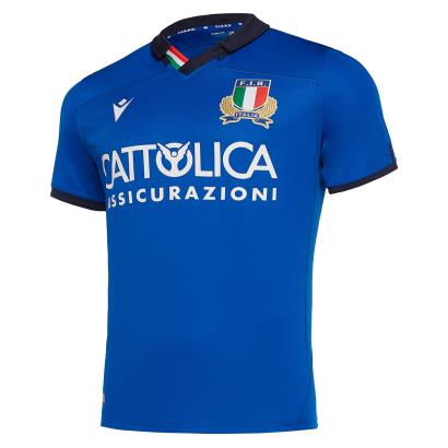 Italy Poly Home Rugby Shirt S/S 2020 - Front