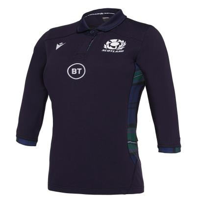Scotland Womens Classic Home 3/4 Sleeve Rugby Shirt 2020 - Front
