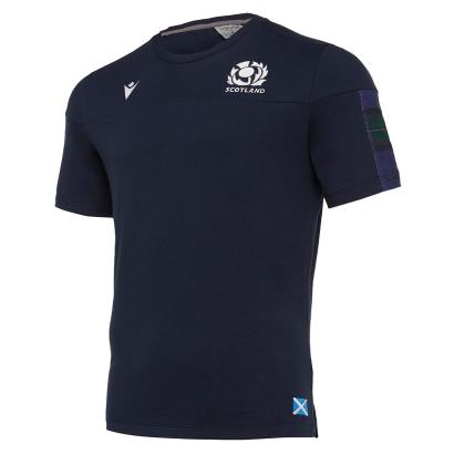 Scotland Travel Polycotton Tee Navy 2020 front