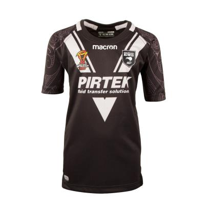 New Zealand Kiwis Rugby League Poly Home Shirt S/S Kids 2018 - Front