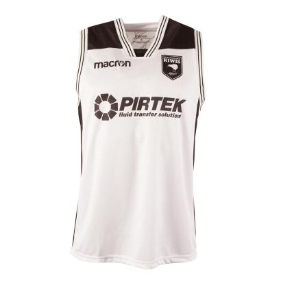 New Zealand Kiwis Rugby League Poly Dry Gym Singlet White 2018 - Front