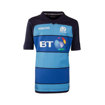 Scotland Training Shirt Royal Kids S/S 2019 - Front