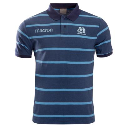 Scotland Striped Polo Blue Melange 2019 - Front