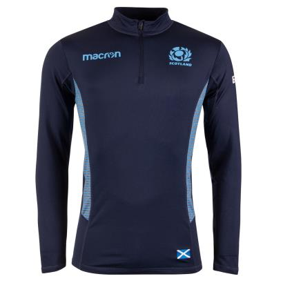 Scotland 1/4 Zip Performance Softshell Top Navy 2019 - Front