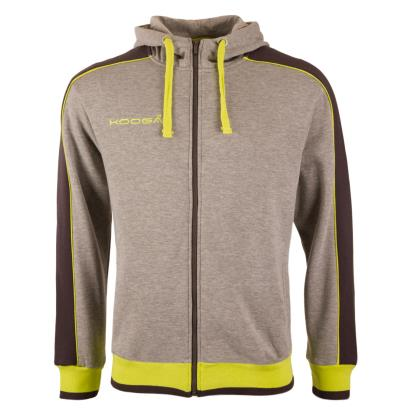 Kooga Piped Full Zip Hoody Grey - Front