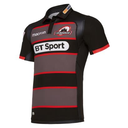Edinburgh Poly Home Rugby Shirt S/S Kids 2018 - Front