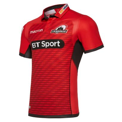 Edinburgh Poly Alternate Rugby Shirt S/S Kids 2018 - Front
