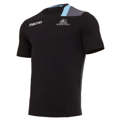Glasgow Warriors Polycotton Tee Black 2018 - Front