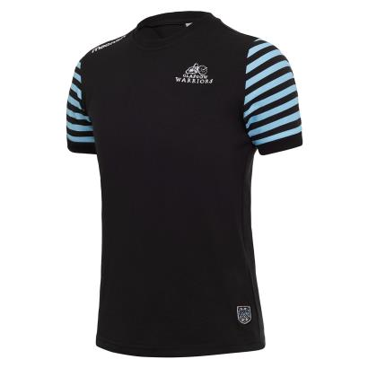 Glasgow Warriors Leisure Tee Black Kids 2018 - Front