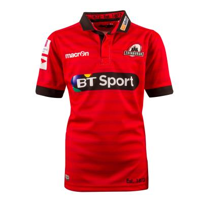 Edinburgh Poly Alternate Rugby Shirt S/S Kids 2017 - Front