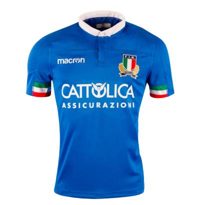 Italy Poly Home Rugby Shirt S/S 2019 - Front