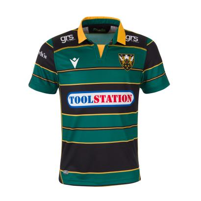 Northampton Saints Poly Home Rugby Shirt S/S Kids 2020 - Front