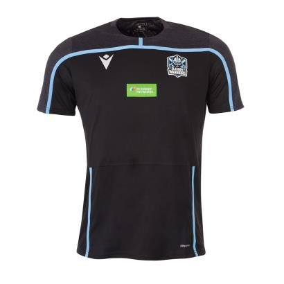 Glasgow Warriors Training Tee Black 2020 - Front