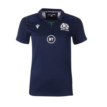 Scotland Womens Poly Home Rugby Shirt S/S 2020 - Front