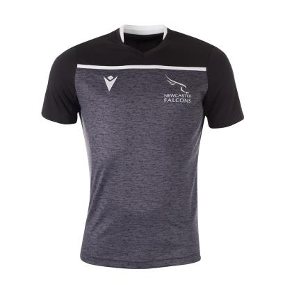 Newcastle Falcons Training Tee Black 2020 - Front