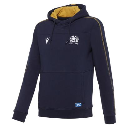 Scotland Pullover Hoodie Navy Kids 2021 - Front