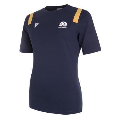 Scotland Womens Cotton Tee Navy 2021 - Front