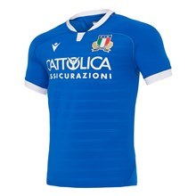 Italy Poly Home Rugby Shirt S/S 2021 - Front