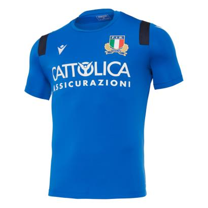 Italy Training Tee Blue 2021 - Front