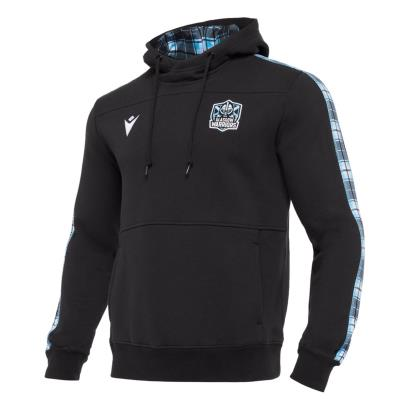 Glasgow Warriors Travel Pullover Hoodie Black 2021 - Front