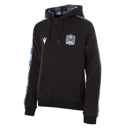 Glasgow Warriors Travel Pullover Hoodie Black Kids 2021 - Front