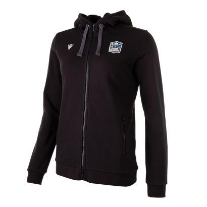 Glasgow Warriors Womens Full Zip Hoodie Black 2021 - Front