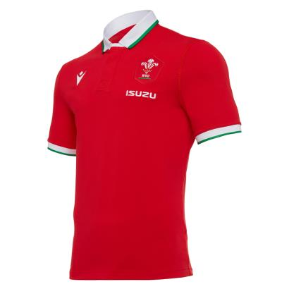 Wales Classic Home Rugby Shirt S/S 2021 - Front