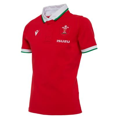 Wales Classic Home Rugby Shirt S/S Kids 2021 - Front