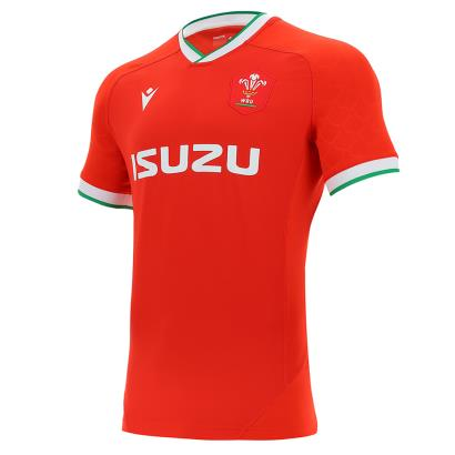 Wales Bodyfit Home Rugby Shirt S/S 2021 - Front