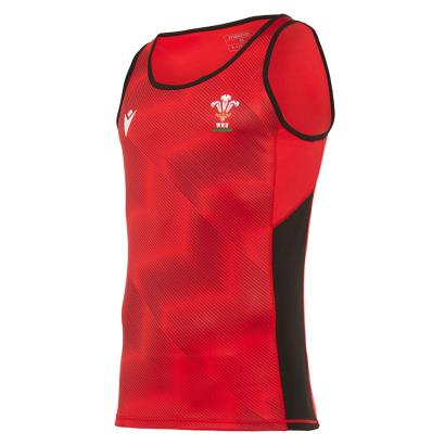 Wales Training Singlet Red 2021 - Front