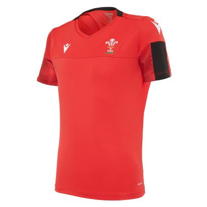 Wales Training Tee Red Kids 2021 - Front