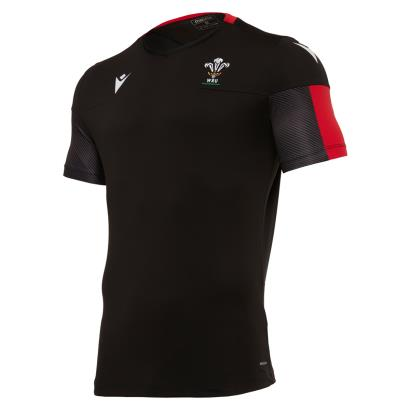 Wales Training Tee Black 2021 - Front