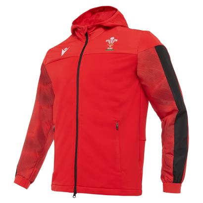 Wales Travel Full Zip Hoodie Red 2021 - Front