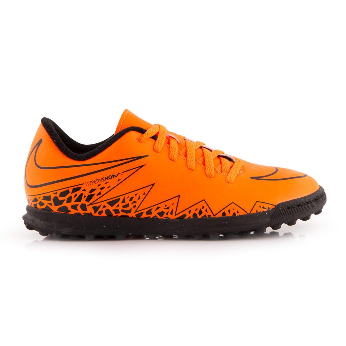 size 40 3b652 f84ab Kids Orange Nike Hypervenom Phade II Turf Boots
