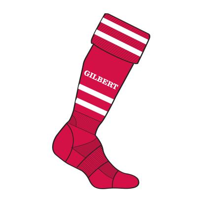 Gilbert Training Socks Red - Front