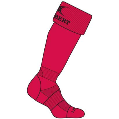 Gilbert Teamwear Kryten II Socks Red - Front