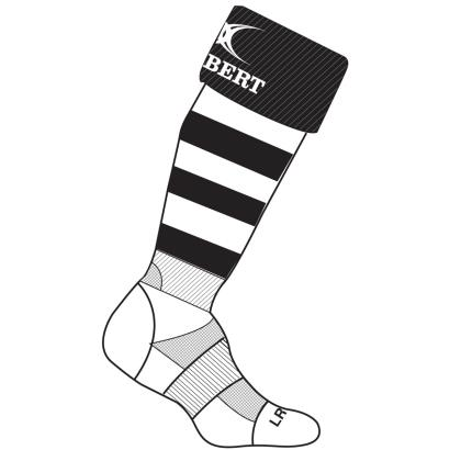 Gilbert Teamwear Kryten II Socks Black/White Kids - Front