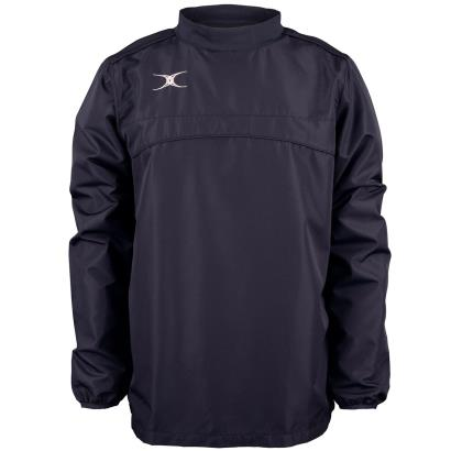 Gilbert Teamwear Photon Warm Up Top Navy Kids front