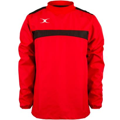 Gilbert Teamwear Photon Warm Up Top Red/Black front
