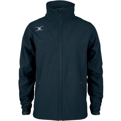 Gilbert Teamwear Pro Soft Shell Full Zip Jacket Navy - Front 1