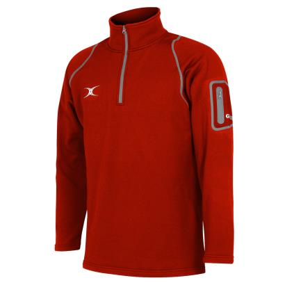 Gilbert Teamwear Quest II 1/4 Zip Fleece Red - Front