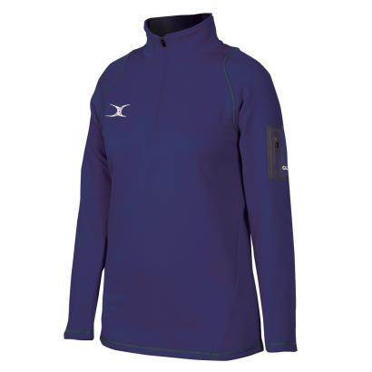 Gilbert Womens Teamwear Quest II 1/4 Zip Fleece Navy - Front