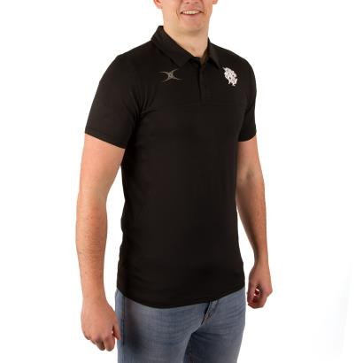 Barbarians Pro Tech Polo Black model 1