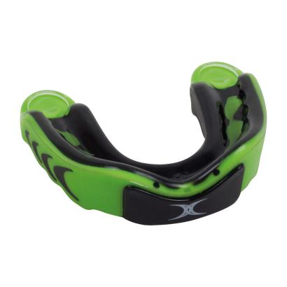 Gilbert Virtuo 3DY Mouthguard Black/Green - Front