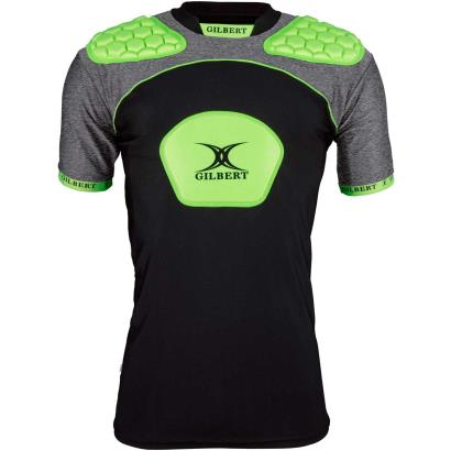 Gilbert Atomic V3 Body Armour Black/Volt Green - Front