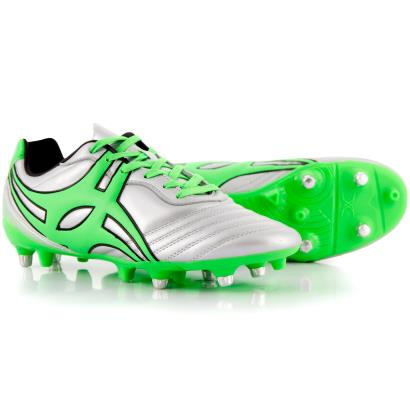 Gilbert Jink Pro Chrome Rugby Boots Silver - Front