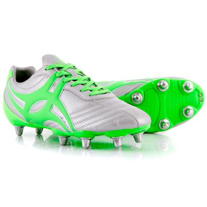 Gilbert Sidestep XV Rugby Boots Silver - Front