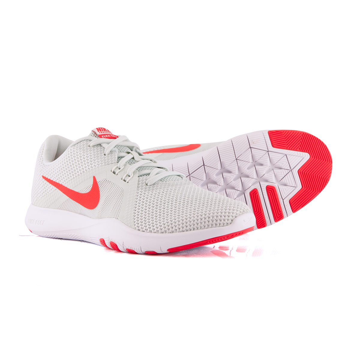 69c70e57db797 Nike Womens Flex 8 Trainers Barely Grey - Front