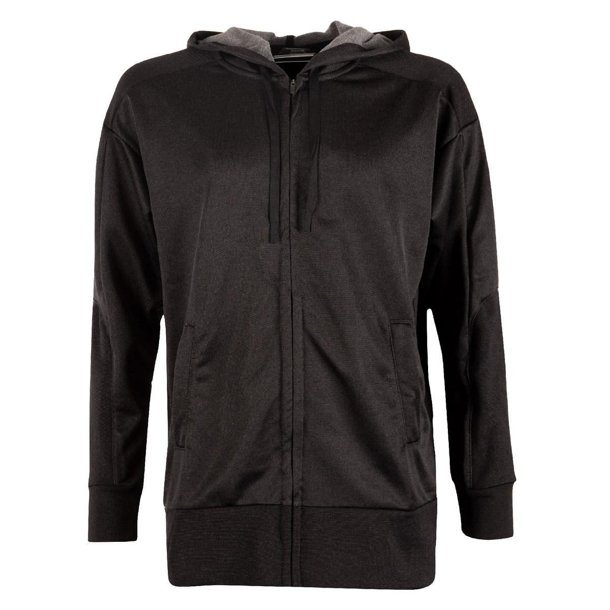 30a11959b7a0 Nike Womens Dri-Fit Full Zip Hoodie Black - Front